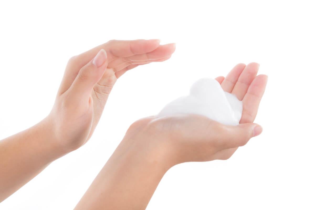 泡立った洗顔石鹸のイメージ画像